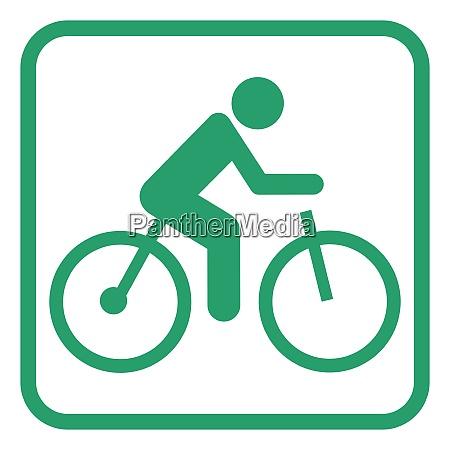 pictograma electrico de la bicicleta
