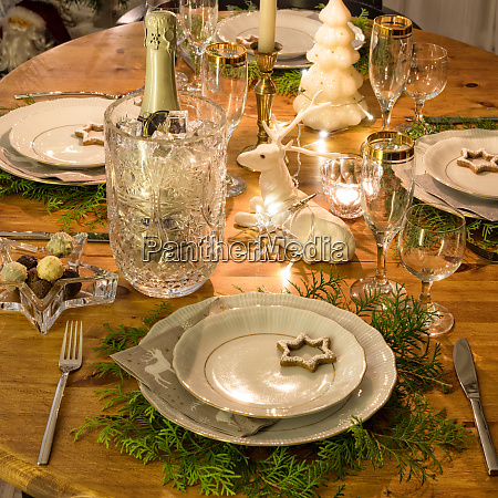 a colorful and festive christmas table