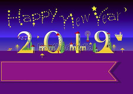 happy new year 2019 stars and