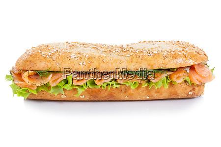 sandwich de baguette de cereales integrales