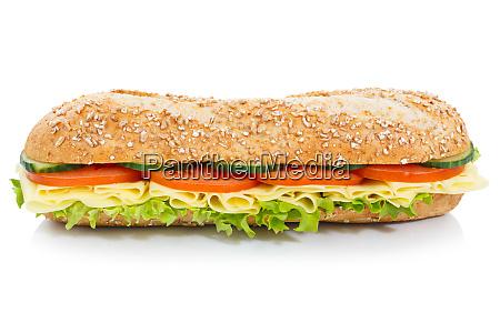 sandwich sandwich de baguette granos enteros
