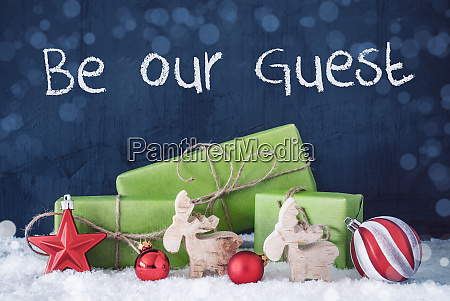 green christmas gifts snow decoration be