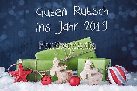 green christmas gifts guten rutsch ins