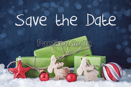 green christmas gifts snow decoration save