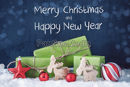 green christmas gifts snow merry christmas