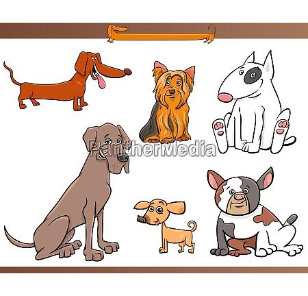 juego de personajes de dibujos animados