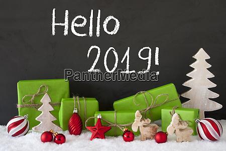christmas decoration cement snow text hello
