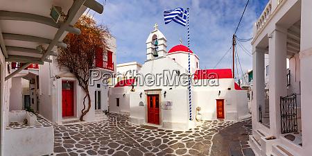 agia kyriaki church on island mykonos