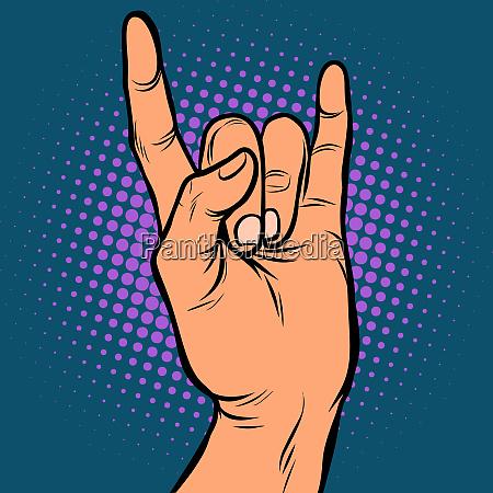 hombre mano rock gesto