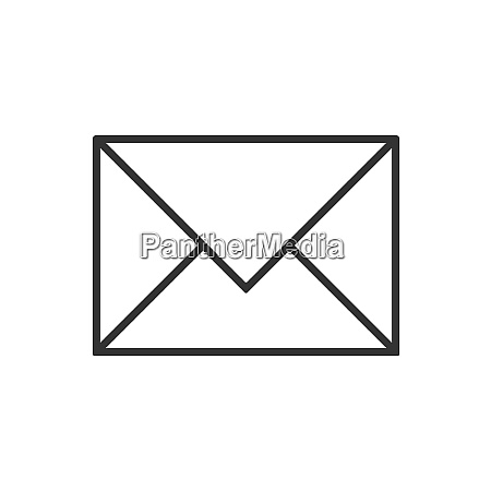 mail line icon on a white