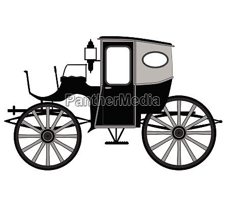 carro de estilo antiguo