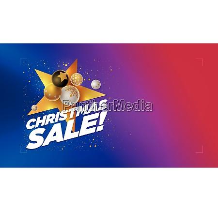 merry christmas sale design template