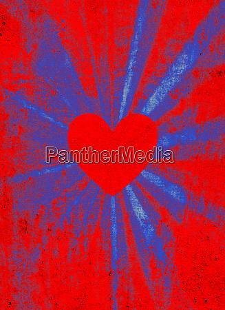 red starburst corazon de san valentin