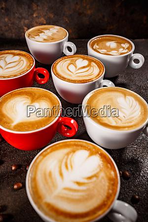 set de arte con cafe con