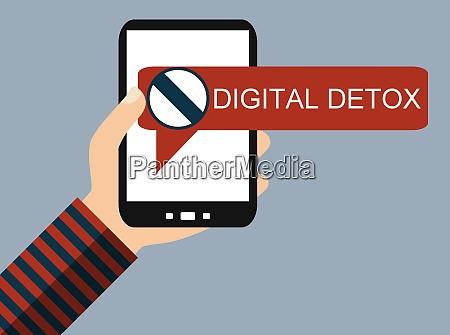 mobile phone digital detox flat