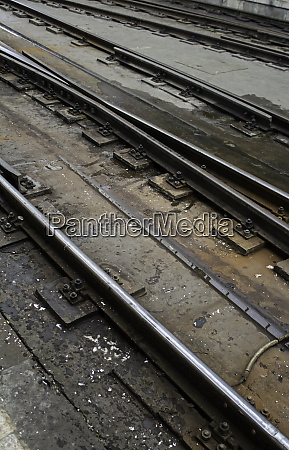 old metal tracks of a train