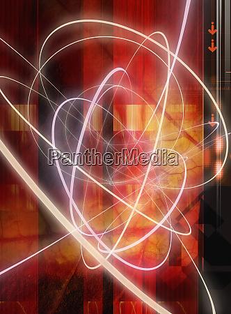 hoja abstracta y disenyo de luz