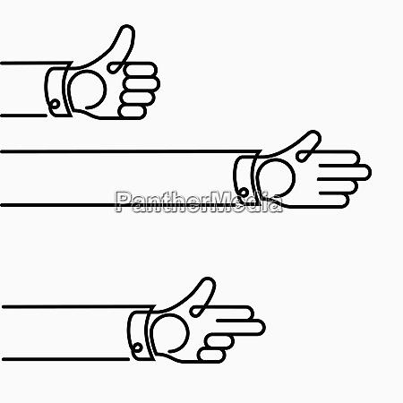 manos gesticular