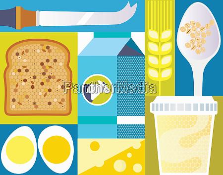cierre de pan integral huevos y