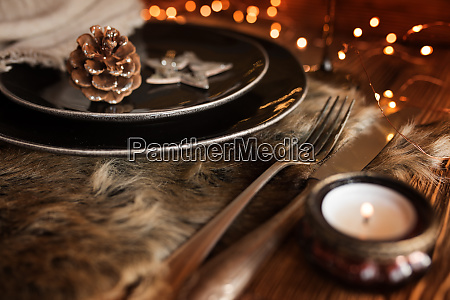 christmas decoration for a place setting
