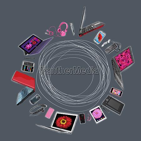 gama, de, dispositivos, móviles, de, comunicación - 26010965