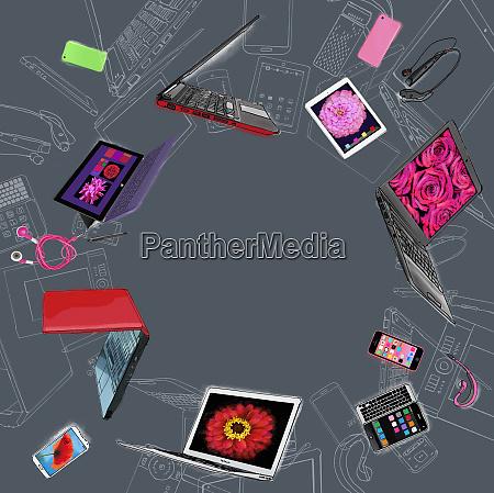 gama, de, dispositivos, móviles, de, comunicación - 26010970