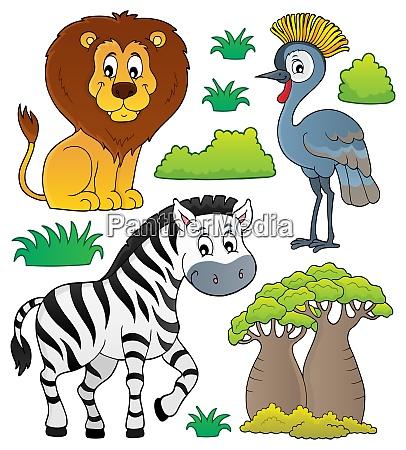african nature theme set 3