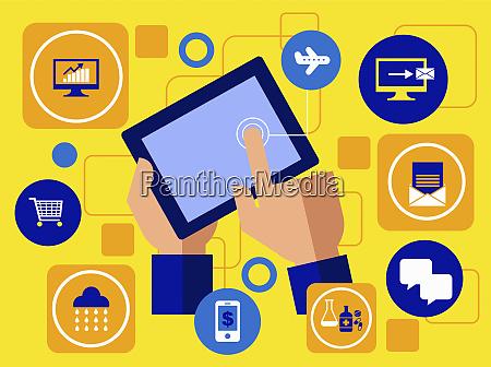 utilizar la tableta digital para la