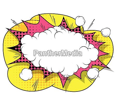 vector retro burbuja explosion libro comico