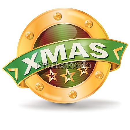button with xmas