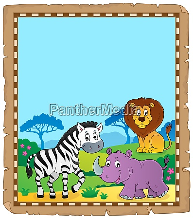 parchment with african animals 6