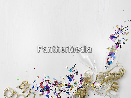colorful new year background with many