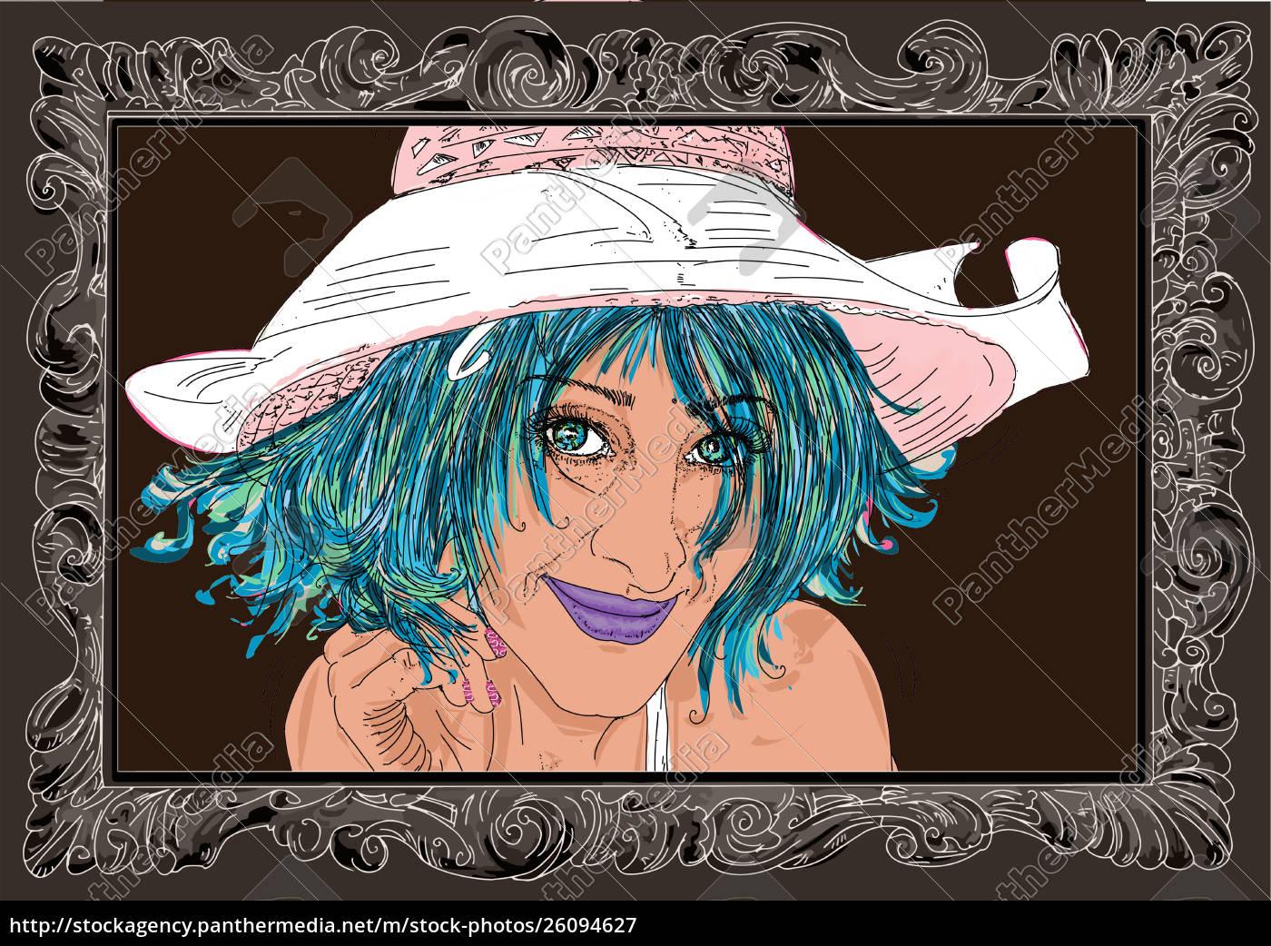 , mujer, erótica, refinada, y, sensual, línea - 26094627