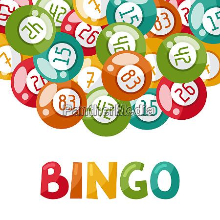suerte recreacion actividad bolas bingo tarjeta