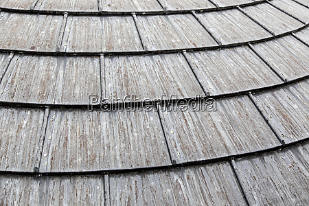 old metal roof worn by time