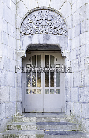 ancient door in a fortress