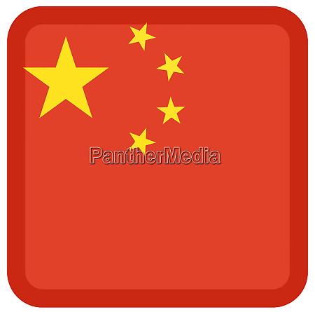 bandera china cuadrado pais forma patriotico