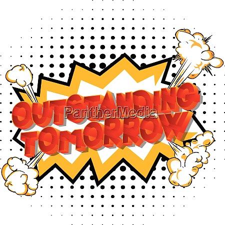 outstanding tomorrow palabras estilo comic