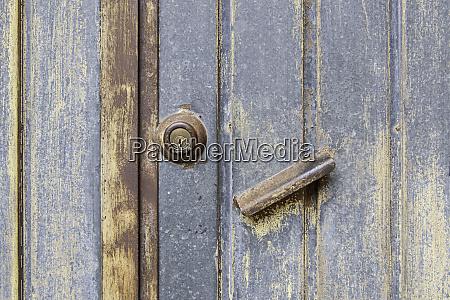 rusty and abandoned metal doors