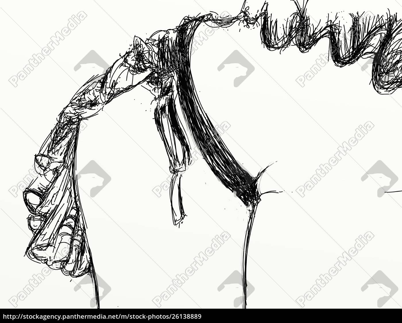 , mujer, erótica, refinada, y, sensual, línea - 26138889