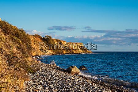 baltic sea coast in klintholm havn