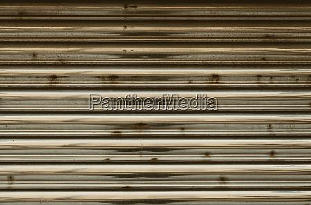 rusty metal door closed