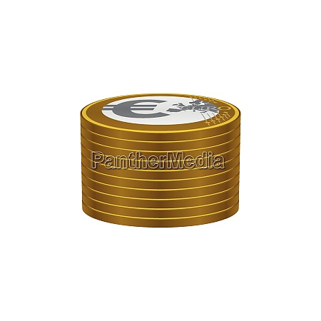 euro coins stack currency symbols