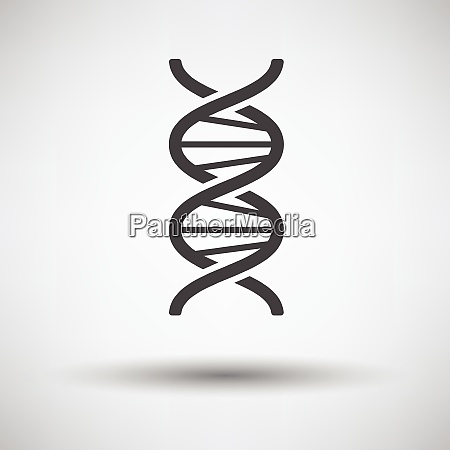 dna icon on gray background round