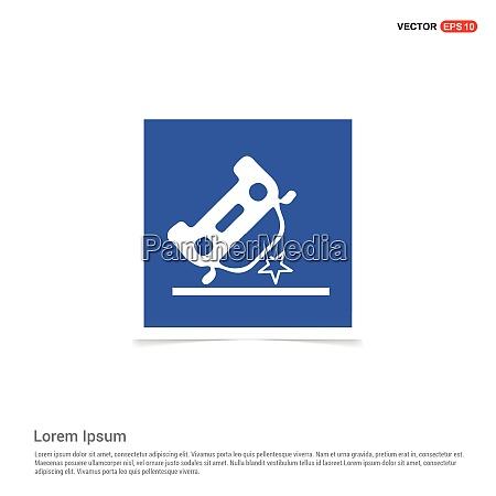 car crash accident icon blue