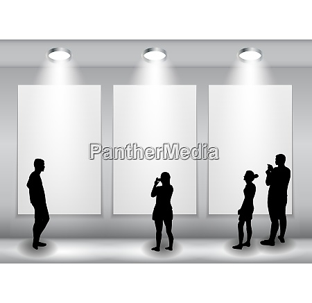 silueta de personas en segundo plano