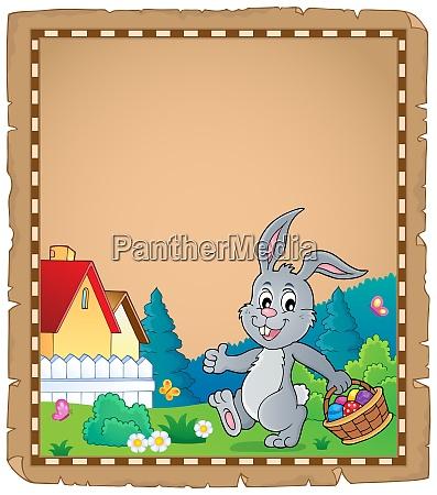pergamino tema del conejo de pascua