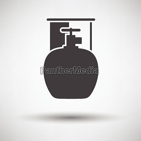 camping gas container icon on gray
