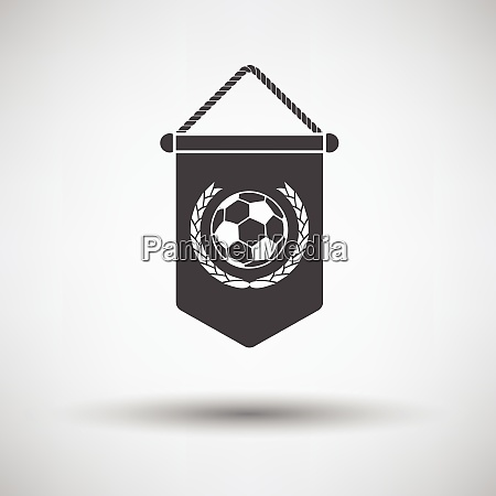 football pennant icon on gray background