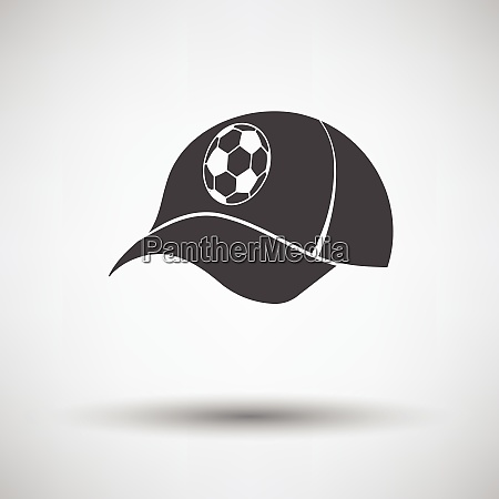 football fans cap icon on gray